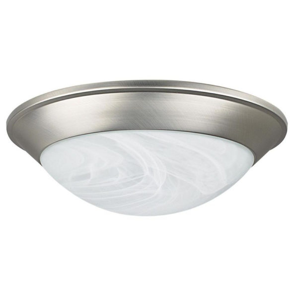 Dome Ceiling Lights: UltraLite 12W LED Ceiling Light Dome With Silver Rim